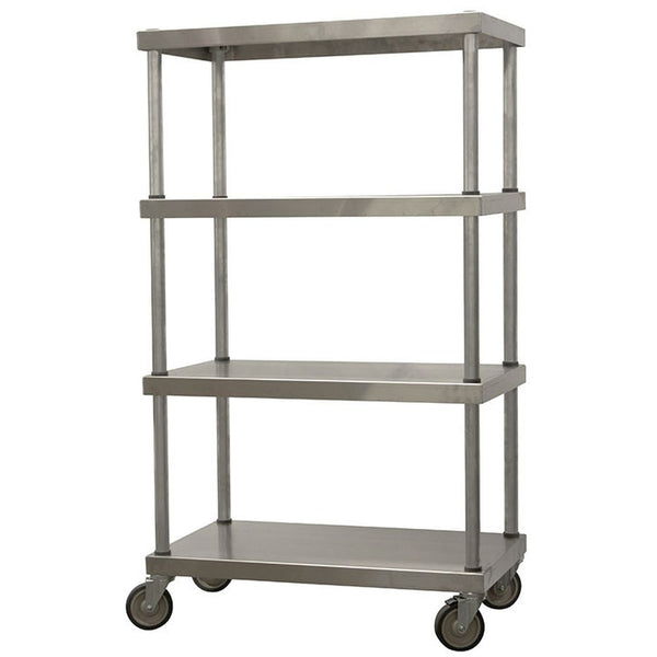 "Mobile Aluminum Shelving Unit (66""H)"