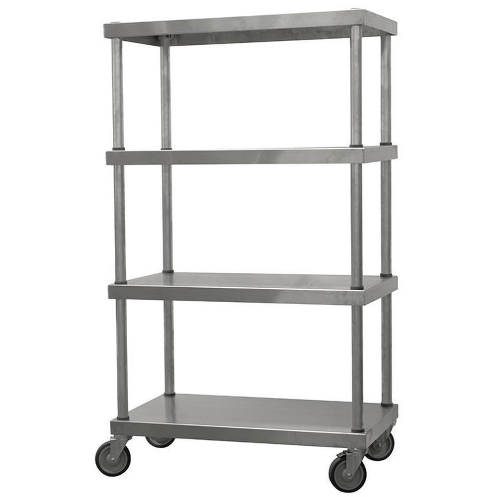 Mobile Stainless Steel Shelving Unit (54
