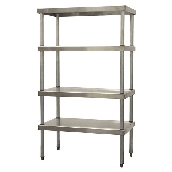 "Stainless Steel Shelving Unit w/ 4 Shelves (60""H)"