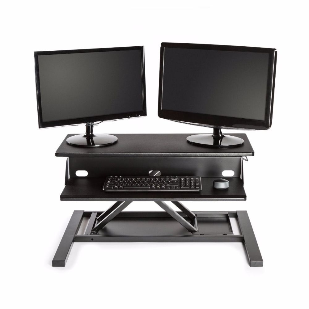 Standing Desk Converter Level Up Pro 32 w- Black Top (Pneumatic)