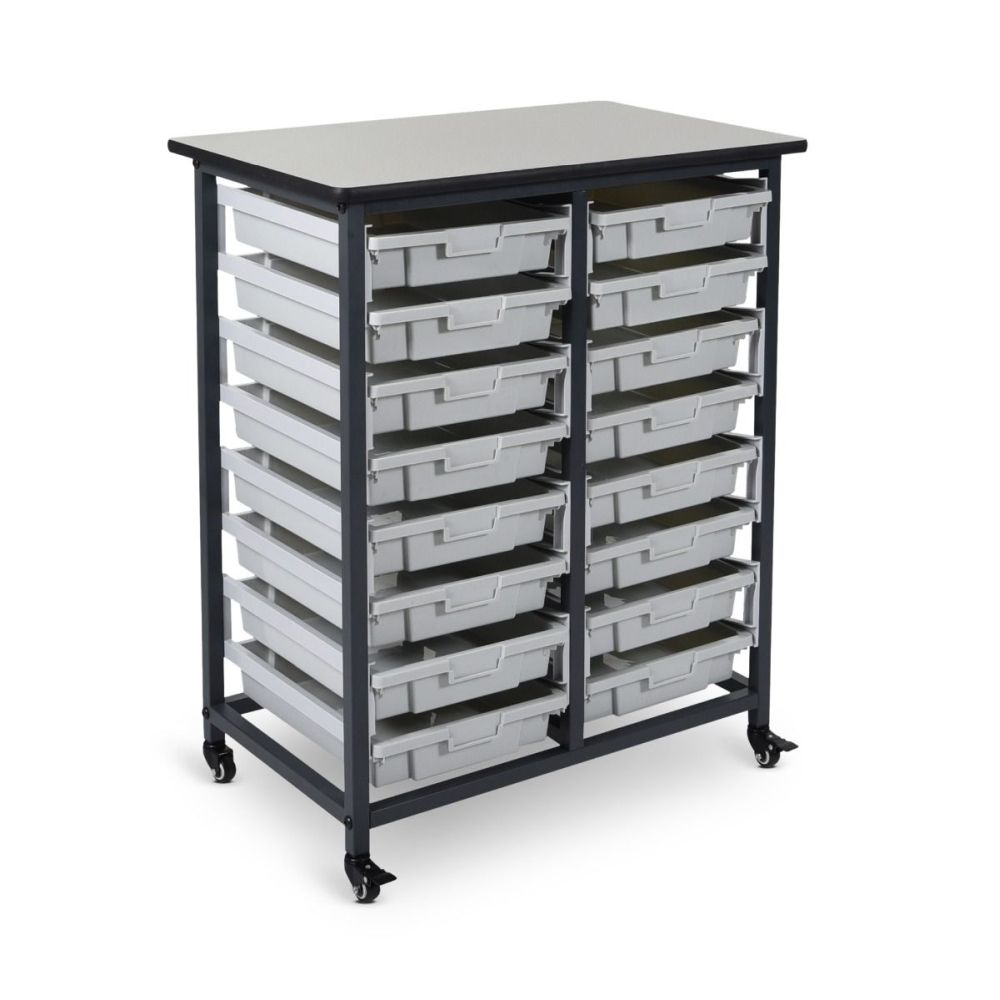 Mobile Bin Storage Unit (Small Bins) - MBS-DR-16S