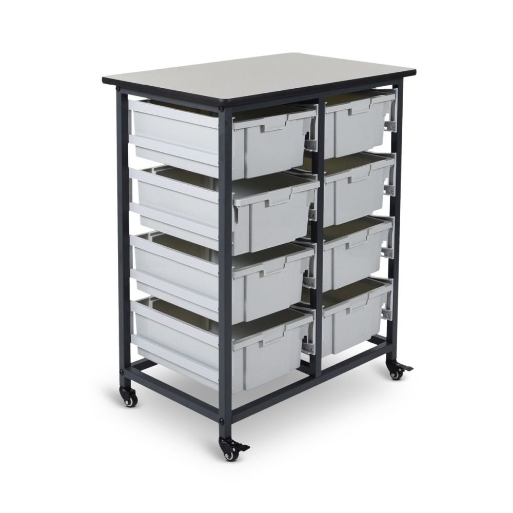 Mobile Bin Storage Unit (Large Bins) - MBS-DR-8L