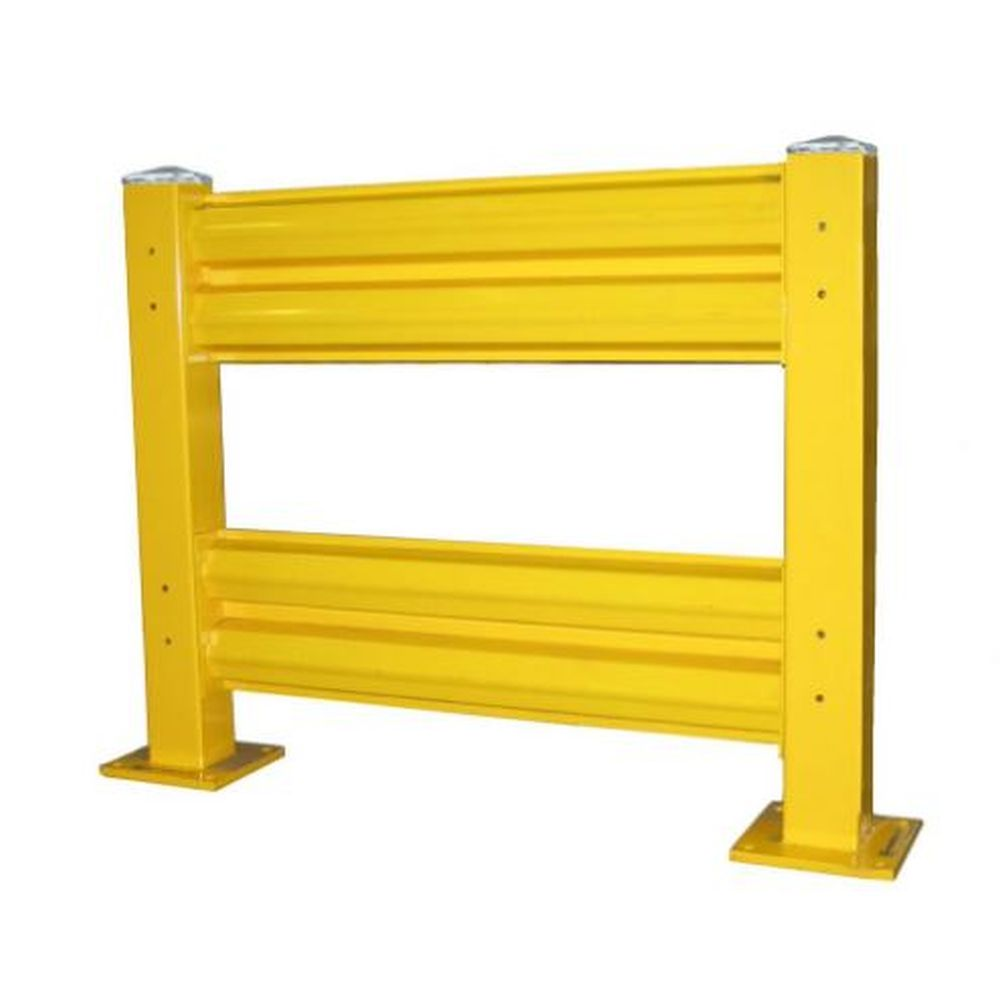 Heavy Duty Warehouse Double Guard Rail Starter Unit