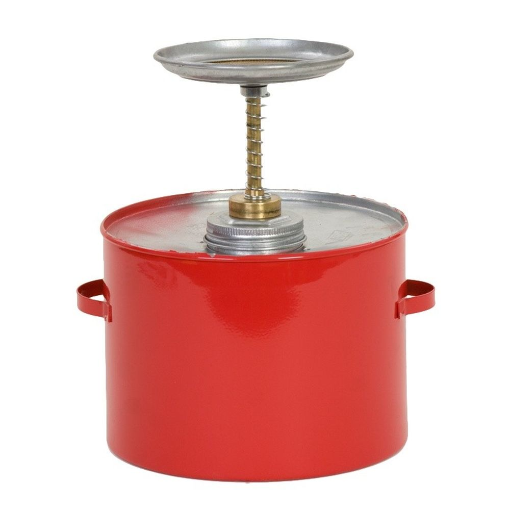 Plunger Can 4 Qt. Metal Red