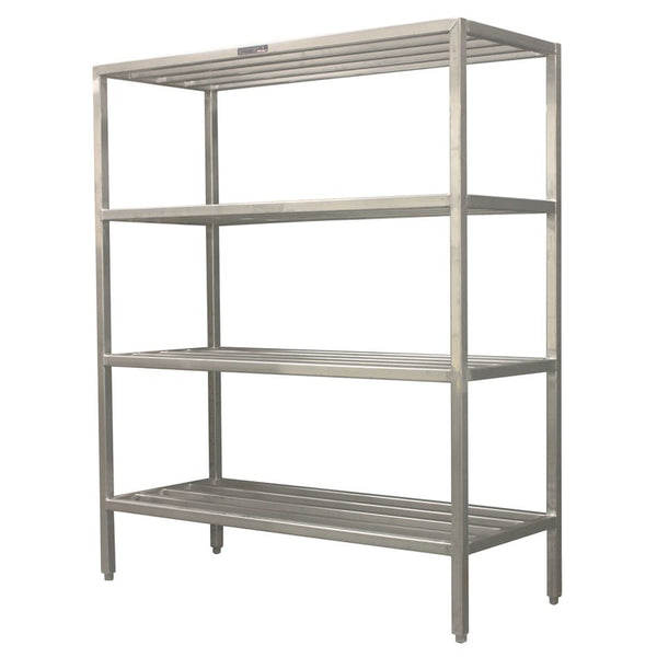 "Institutional All Welded Square Bar Shelving w/ 3 Shelves (60""H)"