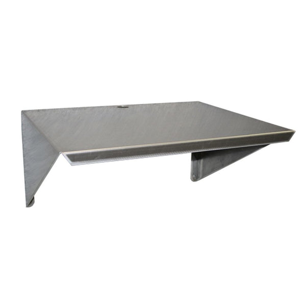 "Aluminum Microwave Wall Mount Shelf 18""D x 24""L"