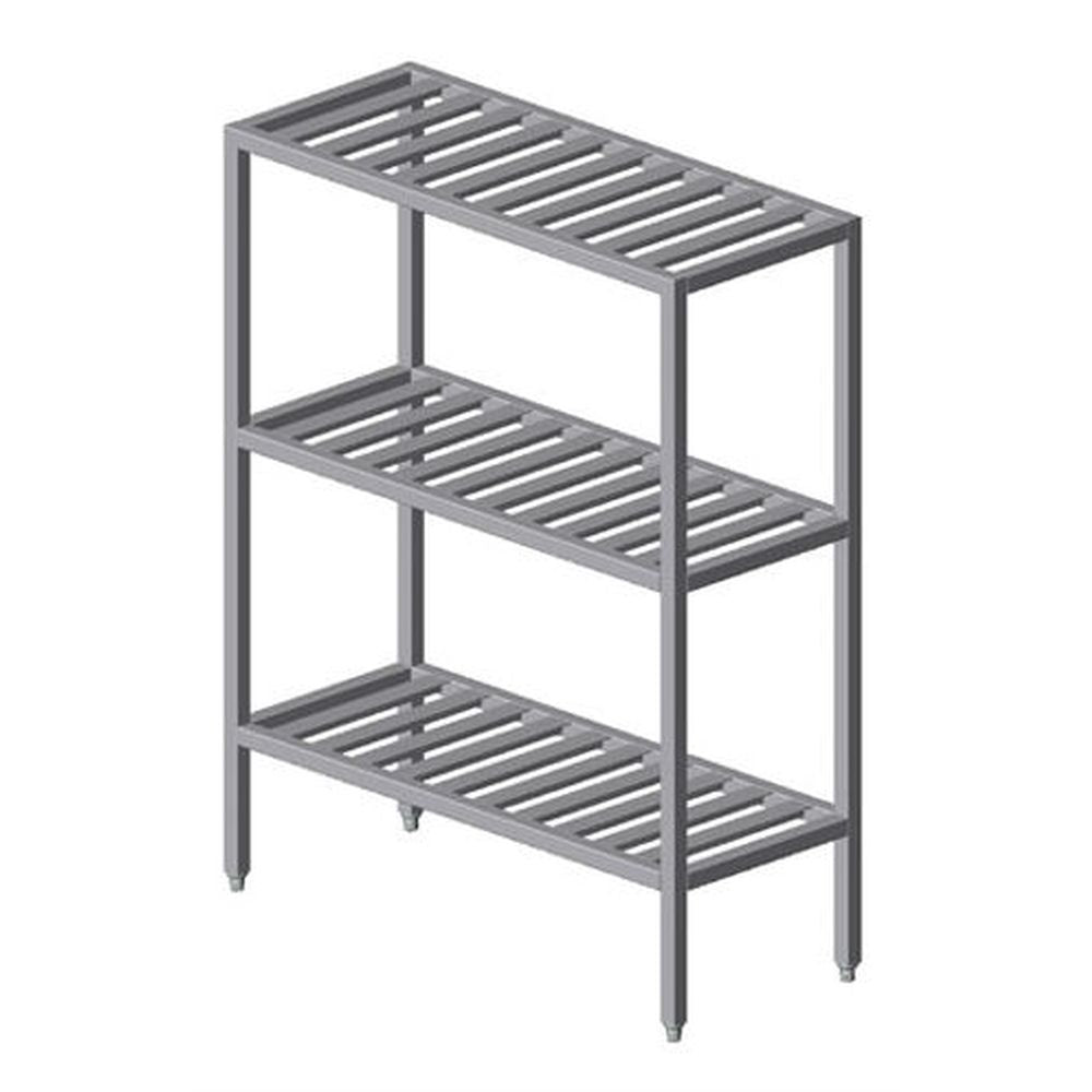 Institutional All Welded T Bar Shelving w/ 3 Shelves (60