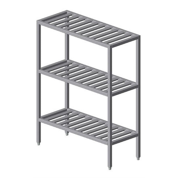 "Institutional All Welded T Bar Shelving w/ 3 Shelves (60""H)"