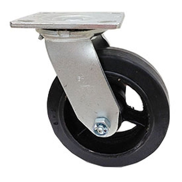 "6"" Mold On Rubber Cast Wheel Swivel Caster - 550 lbs. Capacity"
