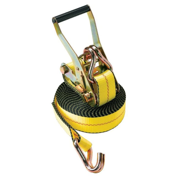 "Yellow Rachet Straps w/ Wire Hook 2""W (Pack of 2)"