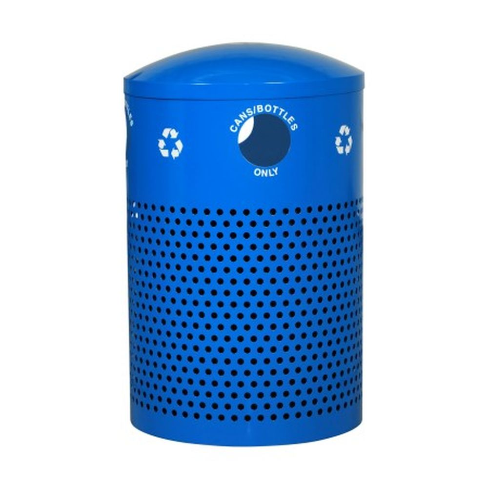 Landscape Series Perforated Outdoor Recycler (40 Gallon)