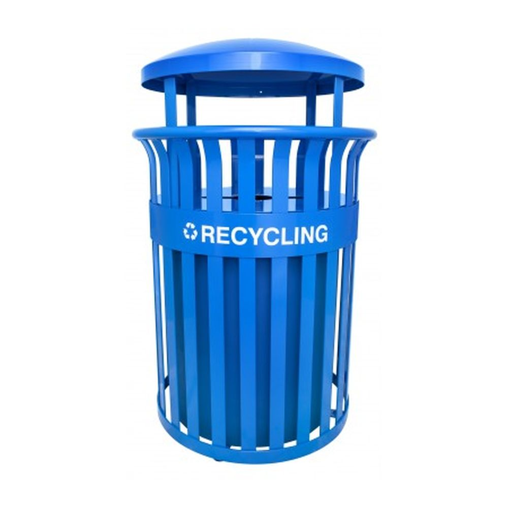 Streetscape Classic Outdoor Trash Recycling Receptacle (35 Gallon)