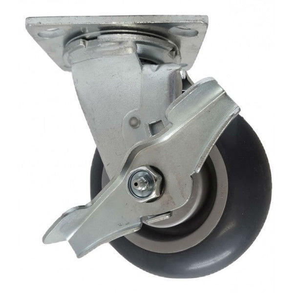 "5"" x  2"" Thermo-Pro Wheel Swivel Caster W/ Brake - 350 lbs. Capacity"