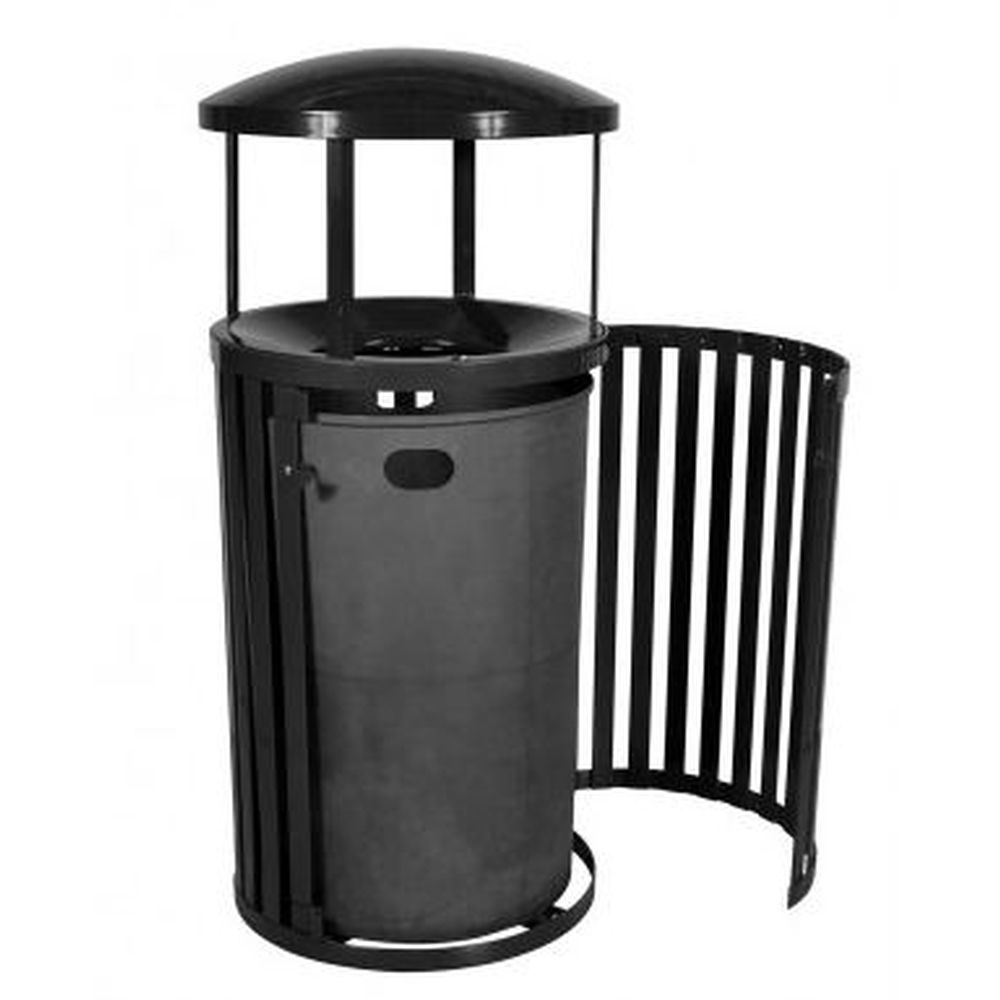 Streetscape Trash Outdoor Receptacle w- Door (45 Gal.)
