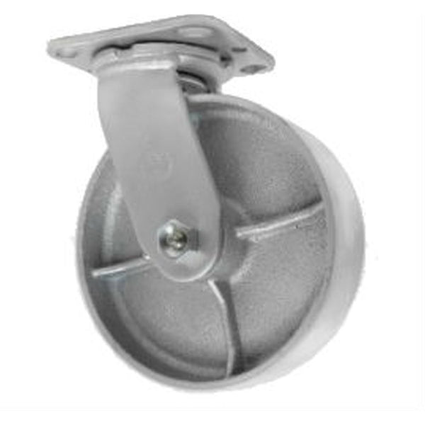 "6"" x 2"" Semi-Steel Wheel Swivel Caster - 1200 lbs. Capacity"