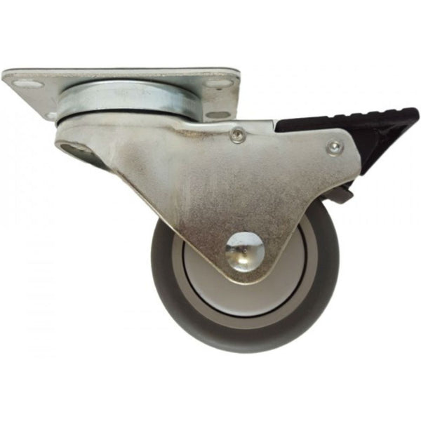 "3"" x 1-1/4"" Thermo-Pro Wheel Swivel Caster W/ Total-Lock brake - 210 lbs. Cap."