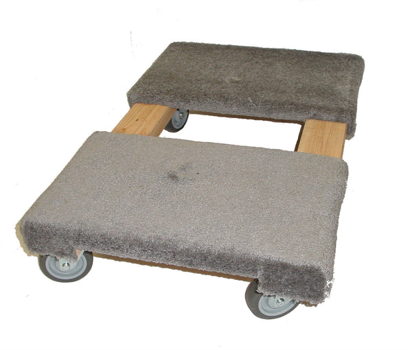 "Carpeted Pro-Mover Trade Show Dolly w- Four 4"" Thermoplastic Wheels - 1,000lb Capacity"