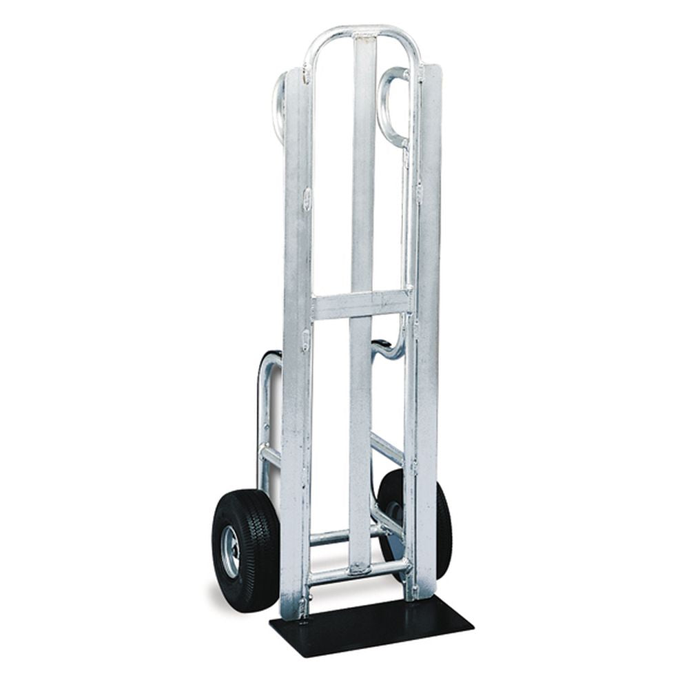 Trayless 12-Pack Delivery Hand Truck Aluminum Frame (Pneumatic Wheels)
