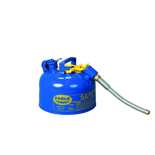 "Type II Safety Can 2.5 Gal. Blue with 7/8"" O.D. Flex Spout"