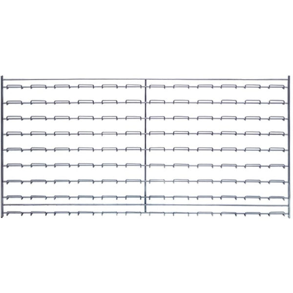 "Wire Louvered Panel 36""W x 18""H w/ Mounting Clips"