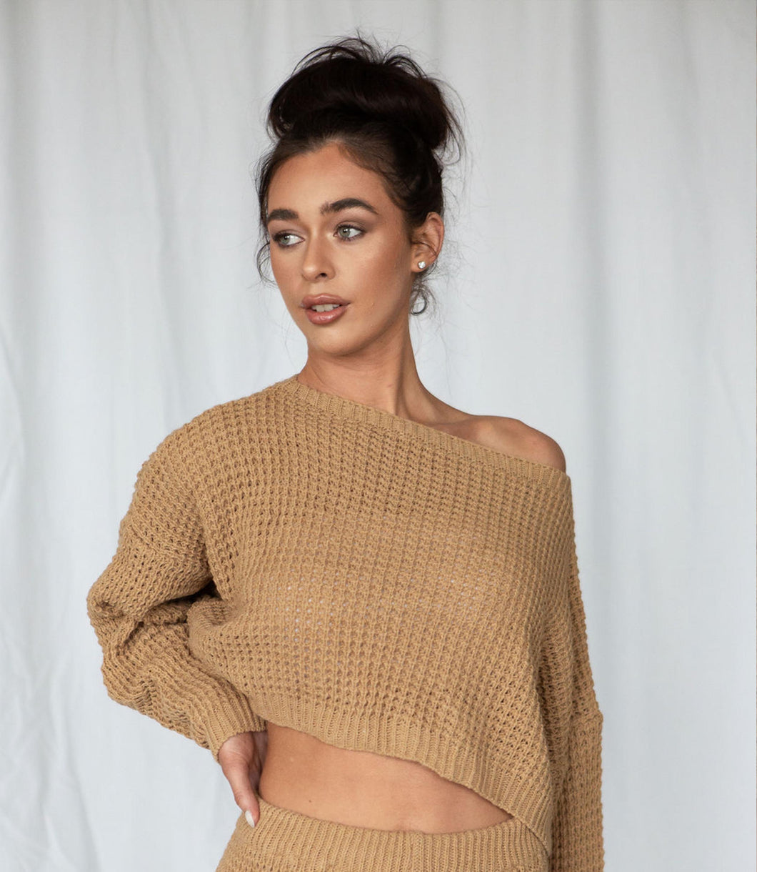 Oversized Lounger Cropped Jumper