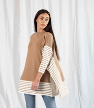 Load image into Gallery viewer, Beige Poncho Jumper