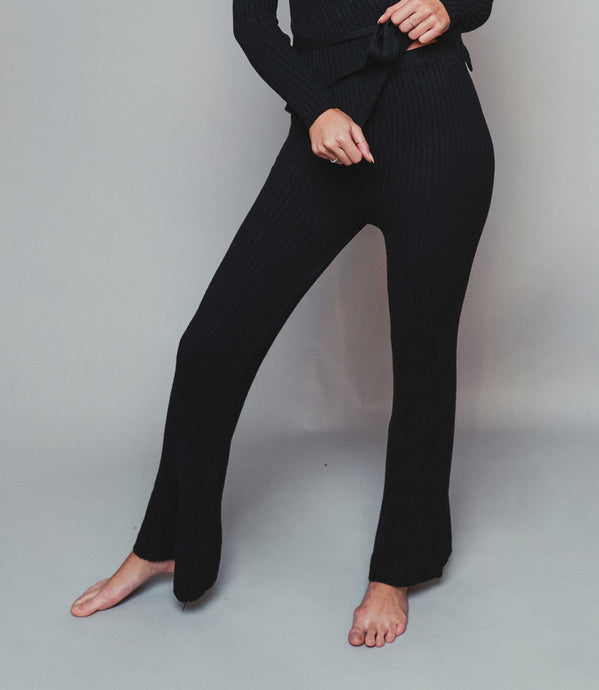 Black Knitted Trousers