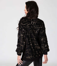 Load image into Gallery viewer, Long Fluffy Sequin Cardi