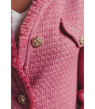 Load image into Gallery viewer, Pink Tweed jacket with gold buttons