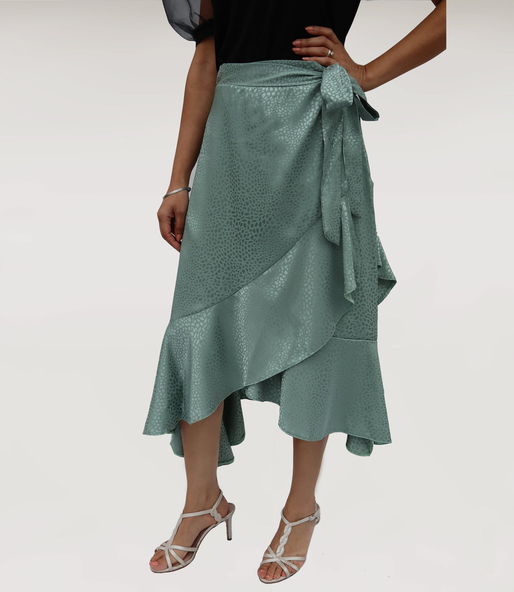 Pistachio Wrap Skirt