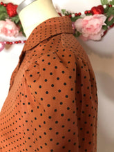 Load image into Gallery viewer, 70s Vintage Givenchy Blouse with Polka Dots and Peter Pan Collar