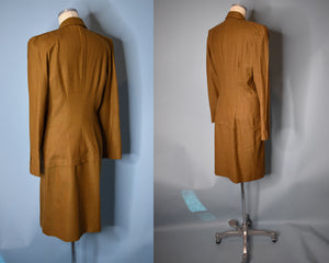 Vintage 80s Plaid Power Suit, Unlabeled Thierry Mugler MEDIUM