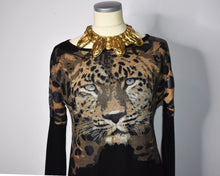 Load image into Gallery viewer, ICONIC Krizia Jaguar Sweater Dress Animal Kingdom Collection / 1980s Krizia Maglia
