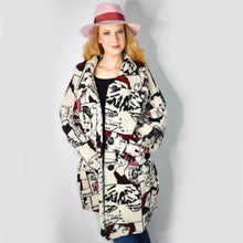 Load image into Gallery viewer, 90s Vintage Novelty Print Coat with Cartoon Faces
