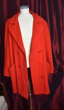 Load image into Gallery viewer, Red 1980s Vintage Pea Coat by Herman Kay-Quinby Vintage