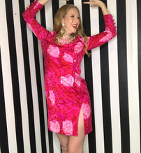 Load image into Gallery viewer, Pink 1980s Floral Print David Hayes for Neiman Marcus Vintage Silk Dress-Quinby Vintage