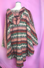 Load image into Gallery viewer, Unisex Vintage 60s Hooded Hippie/Boho Poncho-Quinby Vintage