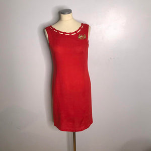 Vintage 1960s Red Wiggle Dress by Nancy Greer-Quinby Vintage