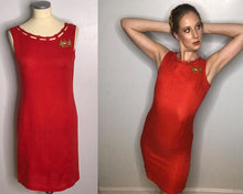 Load image into Gallery viewer, Vintage 1960s Red Wiggle Dress by Nancy Greer-Quinby Vintage