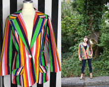 Load image into Gallery viewer, Women's Rainbow 90s Vintage Blazer by Koret of California, Great Pride Outfit-Quinby Vintage