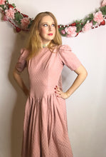 Load image into Gallery viewer, Vintage Pink 1980s Puffy Sleeve Dress, Laura Ashley/Gunne Sax Style-Quinby Vintage