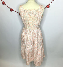 Load image into Gallery viewer, Fabulous 50s Novelty Print Vintage Day Dress With Original Belt-Quinby Vintage