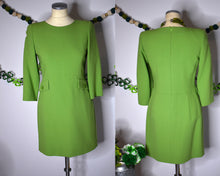 Load image into Gallery viewer, True Vintage 1980s Lime Green Wiggle Dress with Pockets by Noriko Maeda, MEDIUM