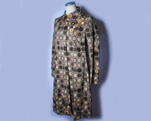 Load image into Gallery viewer, 90s Vintage Moschino Cheap and Chic Button Novelty Print Coat, Size 8