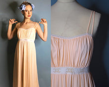 Load image into Gallery viewer, 1970s Vintage Olga Nightgown Pastel Pink and Lace, LARGE