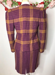 1980s Wool Carolina Herrera Power Suit