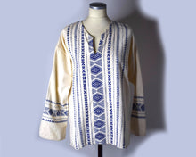 Load image into Gallery viewer, 1960s Vintage Embroidered Folk Peasant Blouse - Unisex L/XL