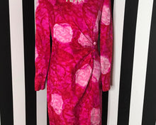 Load image into Gallery viewer, Vintage 80s Floral Silk Cocktail Dress by David Hayes for Neiman Marcus, LARGE