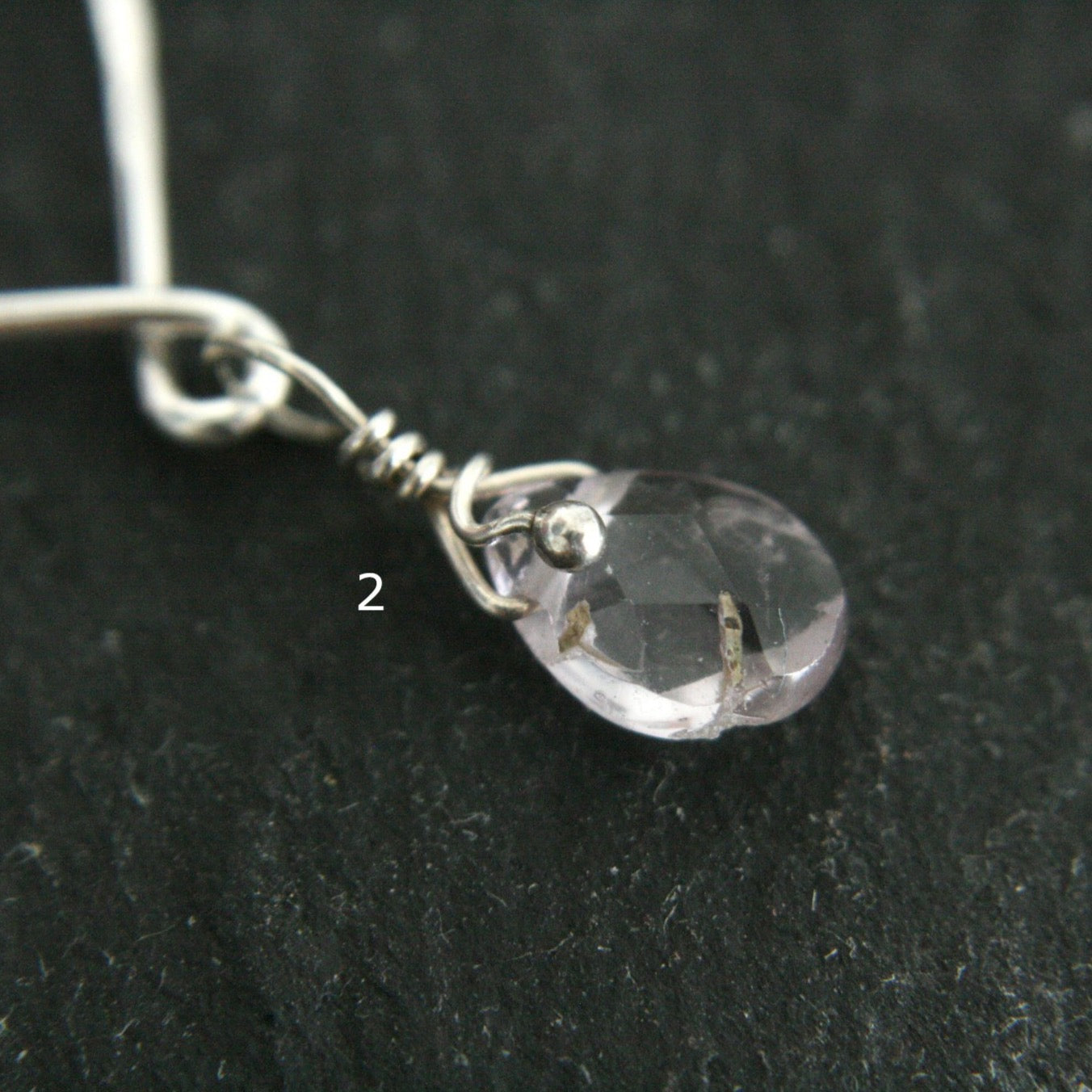 Sterling Silver Unalome Pendant with Amethyst
