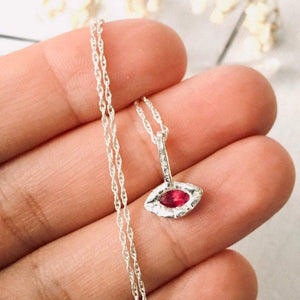 All Seeing Eye Necklace with Ruby - Andune Jewellery